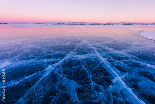 Fotografie, Obraz The popular sights of Lake Baikal in Russia, the stunning winter landscape