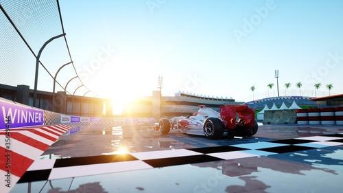 Fotografie, Obraz Racer of formula 1 in a racing car