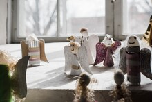 Handmade Angels At A Church In Sweden