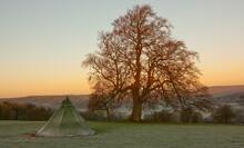 Frosty Tent On A Field In Sout...