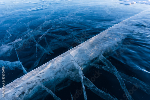 Valokuva The popular sights of Lake Baikal in Russia, the stunning winter landscape