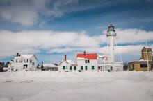 Whitefish Point Lighthouse On The Coast Of Lake Superior, Michigan