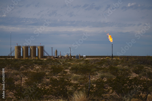 West Texas gas flare Fototapeta