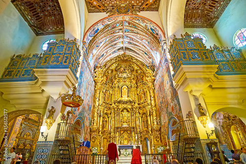Photo The altarpiece in Our Lady of O church, Sanlucar, Spain