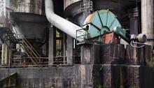Part Of Huge Steel Rusty Mecha...