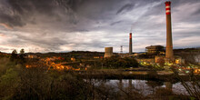 Panoramic View Of Glowing Stre...