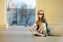 Cute Young Girl Sightseeing On...