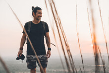 Young Cheerful Male Traveler I...