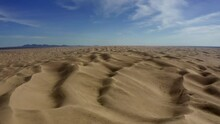 4K Aerial Flyover Of Imperial Sand Dunes Recreational Area (Glamis)