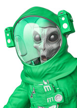 Alien Astronaut Doing An Unbel...