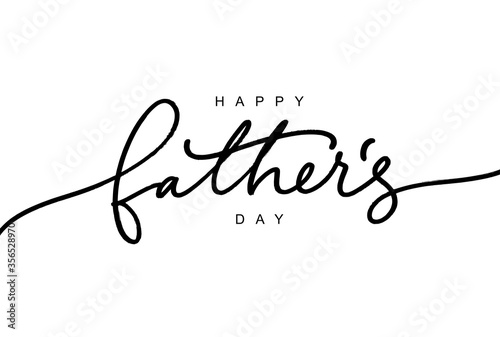 Obraz Happy Father's day calligraphy greeting card. Modern vector brush calligraphy. Happy Father's Day typography design - fototapety do salonu