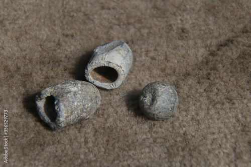 antique lead bullet for a gun Canvas Print