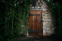 Old Wooden Doors Of An Old Hou...
