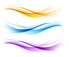Set Of Color Abstract Wave Design Element