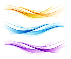 Skup elemenata dizajna apstraktnih valova u boji
