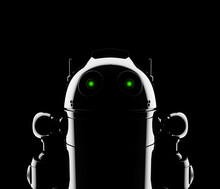 Abstract Robot Silhouette. Sti...