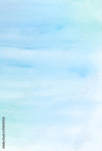 海 暑中見舞い 水彩 背景 Slika na platnu