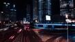 Night time lapse scene in Lujiazui Shanghai