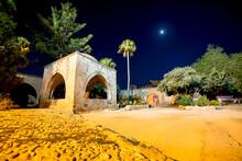 Agia Napa Napa Monastery At Night. Famagusta District, Cyprus