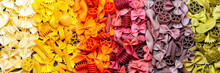 Colorful Rainbow Pasta Mix Texture Background Wallpaper