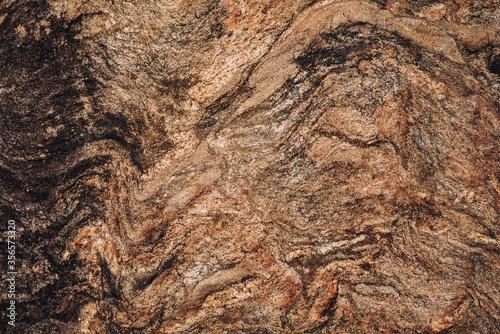 Wavy rock texture striations Tablou Canvas