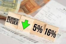 Euro Geldscheine, Kassenbon Un...