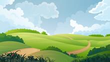 Summer Rural Landscape. Countr...