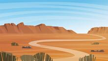 Grand Canyon Desert Landscape.