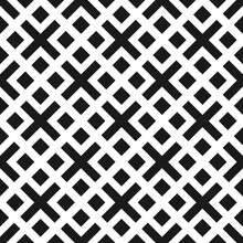 Seamless Geometric Abstract Pattern With Elements Of Crosses And Squares