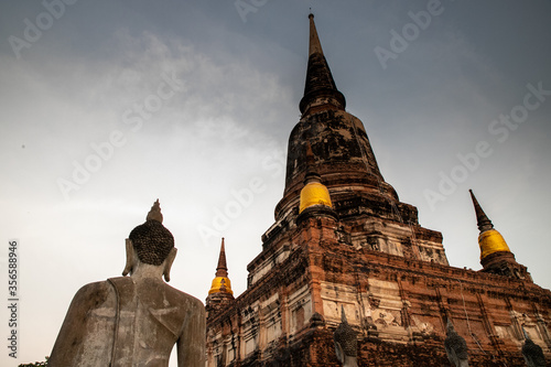 Fototapeta Wat Yai Chai Mongkhon, a Buddhist temple of archaeological park, Ayutthaya, Thai