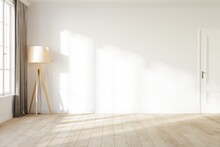 Blank White Wall With A Light ...