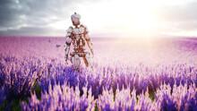 Military Robot, Cyborg With Gu...