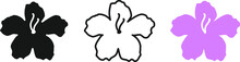 Rhododendron Flower Icon , Vec...