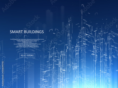 Obraz Smart building concept design - fototapety do salonu