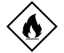 Flame Icon, Inflammable Label ...