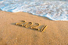 2021 Year Drawing On The Sand ...