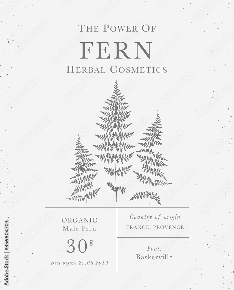 Fototapeta Set of labels of Natural organic herbal products. Vintage packaging design collection for Cosmetics, Pharmacy