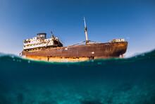 Telamon Wreck Ship In Blue Oce...