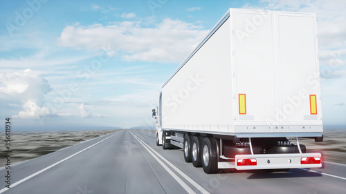 Fotografie, Tablou white truck
