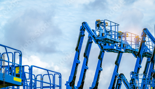 Fotografie, Tablou Articulated boom lift