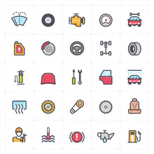 Icon Set - Garage And Auto Par...