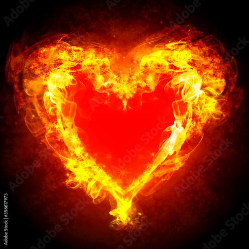 Photo burning heart