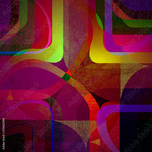 Fototapety, obrazy: abstract curved bands