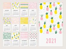Cute Calendar With Tropical Pi...