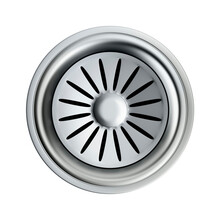 Silver Sink Strainer With Stop...