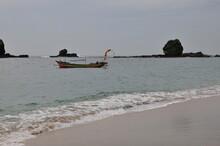 A Fierce Choppy Beach On The South Coast Of Java, TANJUNGPAPUMA Beach, Located In The City Of JEMBER, EAST JAVA, INDONESIA