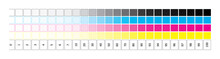 CMYK Gradient From 0 To 100 Pe...