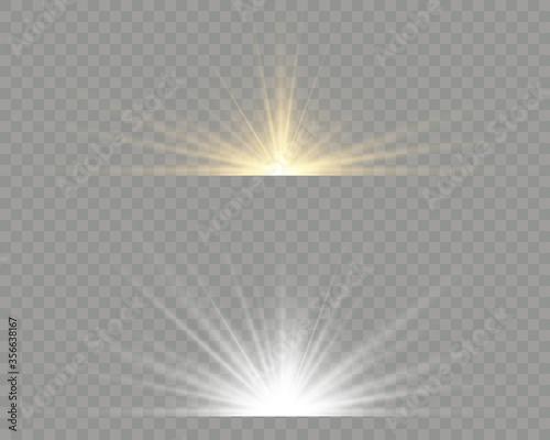 Fotografia, Obraz Light flare special effect with rays