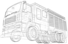 Fire Engine Vector. Fire Truck...
