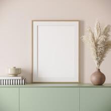 3d Render Of A Light Pink Mode...